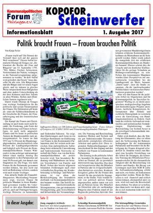 Vereinsblatt 1 Ausgabe 2017
