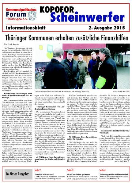 Vereinsblatt 2 Ausgabe 2015
