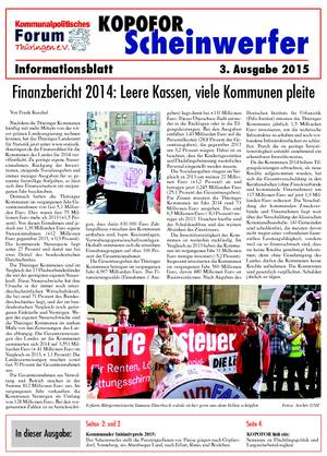 Vereinsblatt 3 Ausgabe 2015