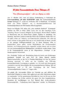 30 Jahre Thüringengestalter: Artikel zu 20 Jahre KoPoFor