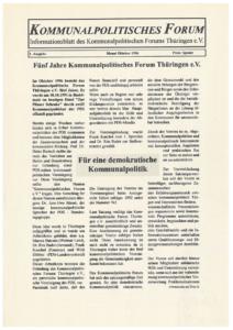 30 Jahre Thüringengestalter: Artikel zu 5 Jahre KoPoFor